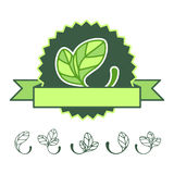 Icons 100% natural. Vector illustration Royalty Free Stock Images