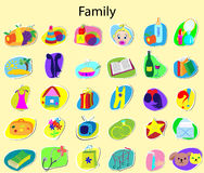 Icons. On a family theme Royalty Free Stock Images