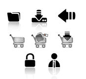 Icons. Your black web button icons are ready Royalty Free Stock Image
