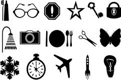 Icons. Set vector illustration