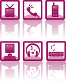 Icons. For communications and technical services Royalty Free Stock Photography