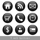 Icons. Set of simple  icons for web Stock Images
