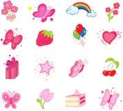 Icons. Set of celebratory icons. Element  for design  illustration Stock Images