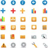 Icons. Varios Icons for Web design Stock Photo