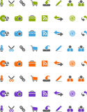 Icons. For Web 2.0 style Royalty Free Stock Image