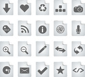 Icons. For Web 2.0 end E-business Royalty Free Stock Photo