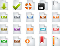 Icons. For Web 2.0 end E-business Royalty Free Stock Image