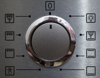 Icons. Oven icons a silvery steel close up Stock Images