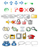 Icons. Various web icons with internet theme Stock Photography