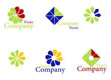 Icons. Set color logos for companies. Vector illustration Stock Photo