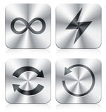 Icons. Four icons with apple style Royalty Free Stock Images