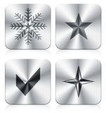 Icons. Four icons with apple style Stock Photography