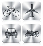 Icons. Transportation vehicle  icons with apple style Royalty Free Stock Photo