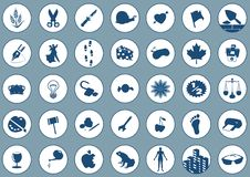 Icons 2 on blue Royalty Free Stock Image