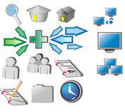 Icons. Web and internet icon (vector Stock Photos
