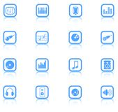Icons. Music & audio raster web icons. Vector version is available in my portfolio vector illustration