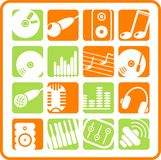 Icons. Music & audio raster web icons. Vector version is available in my portfolio royalty free illustration