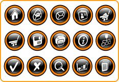Icons. Miscellaneous raster web icons. Vector version is available in my portfolio Royalty Free Stock Image