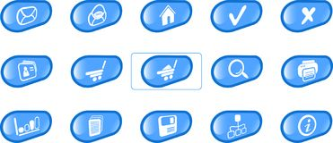 Icons. Miscellaneous raster web icons. Vector version is available in my portfolio Stock Photos