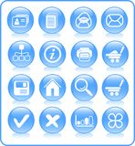 Icons. Miscellaneous raster web icons. Vector version is available in my portfolio Royalty Free Stock Photography