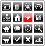 Icons. Miscellaneous raster web icons. Vector version is available in my portfolio Royalty Free Stock Photo