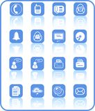 Icons. Miscellaneous office and communication raster icons. Vector version is available in my portfolio Stock Images