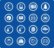 Icons. Miscellaneous office and communication raster icons. Vector version is available in my portfolio Royalty Free Stock Photos