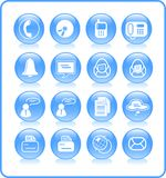 Icons. Miscellaneous office and communication raster icons. Vector version is available in my portfolio Stock Photo