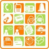 Icons. Miscellaneous office and communication raster icons. Vector version is available in my portfolio Royalty Free Stock Images