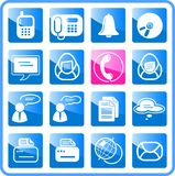 Icons. Miscellaneous office and communication raster icons. Vector version is available in my portfolio Royalty Free Stock Photography