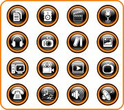 Icons. Miscellaneous multimedia raster icons. Vector version is available in my portfolio vector illustration