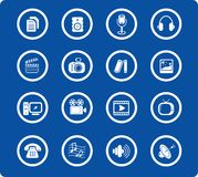 Icons. Miscellaneous multimedia raster icons. Vector version is available in my portfolio royalty free illustration
