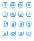 Icons. Security and antivirus raster icons. Vector version is available in my portfolio Stock Images