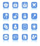 Icons. Security and antivirus raster icons. Vector version is available in my portfolio Royalty Free Stock Image