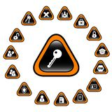 Icons. Security and antivirus raster icons. Vector version is available in my portfolio Stock Image