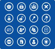 Icons. Security and antivirus raster icons. Vector version is available in my portfolio Stock Photography