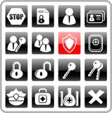 Icons. Security and antivirus raster icons. Vector version is available in my portfolio Stock Photo