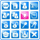Icons. Security and antivirus raster icons. Vector version is available in my portfolio Royalty Free Stock Photography