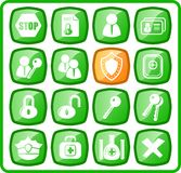 Icons. Security and antivirus raster icons. Vector version is available in my portfolio Royalty Free Stock Images