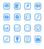 Icons. Miscellaneous office raster icons. Vector version is available in my portfolio Stock Photos