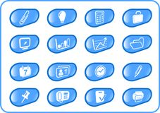 Icons. Miscellaneous office raster icons. Vector version is available in my portfolio Royalty Free Stock Photography