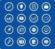 Icons. Miscellaneous office raster icons. Vector version is available in my portfolio Stock Photography