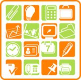 Icons. Miscellaneous office raster icons. Vector version is available in my portfolio Royalty Free Stock Image