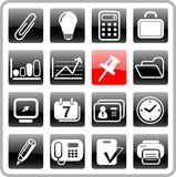 Icons. Miscellaneous office raster icons. Vector version is available in my portfolio Royalty Free Stock Images