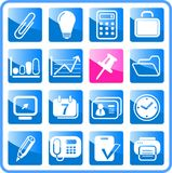 Icons. Miscellaneous office raster icons. Vector version is available in my portfolio Stock Images