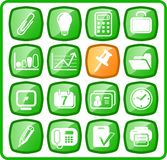 Icons. Miscellaneous office raster icons. Vector version is available in my portfolio Royalty Free Stock Photo