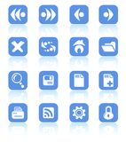 Icons. Browser raster icons. Vector version is available in my portfolio Stock Photos