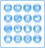 Icons. Browser raster icons. Vector version is available in my portfolio Royalty Free Stock Photography