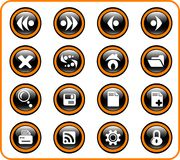 Icons. Browser raster icons. Vector version is available in my portfolio Royalty Free Stock Photo