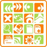 Icons. Browser raster icons. Vector version is available in my portfolio Royalty Free Stock Image
